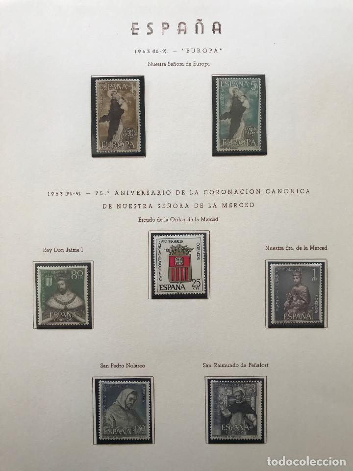 Sellos: Excepcional coleccion sellos España años 1960 a 1990 en Hojas Olegario y 4 Albums Philos - Foto 74 - 219321357