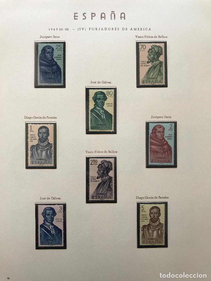 Sellos: Excepcional coleccion sellos España años 1960 a 1990 en Hojas Olegario y 4 Albums Philos - Foto 75 - 219321357