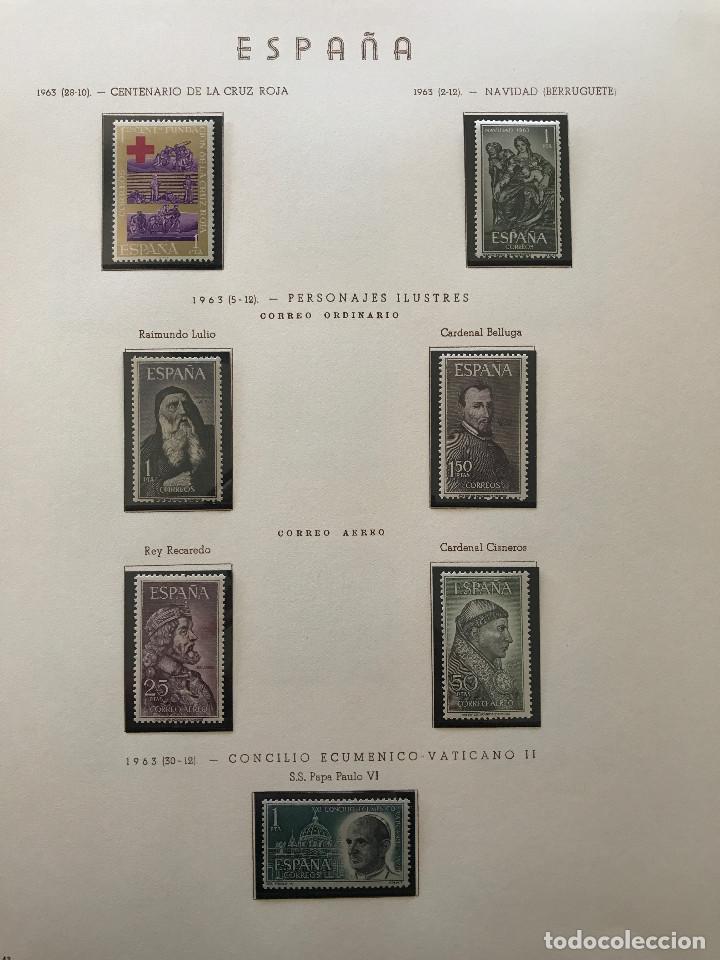 Sellos: Excepcional coleccion sellos España años 1960 a 1990 en Hojas Olegario y 4 Albums Philos - Foto 77 - 219321357