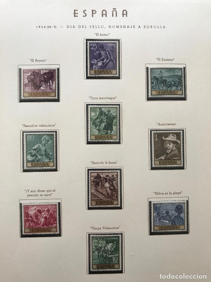 Sellos: Excepcional coleccion sellos España años 1960 a 1990 en Hojas Olegario y 4 Albums Philos - Foto 78 - 219321357