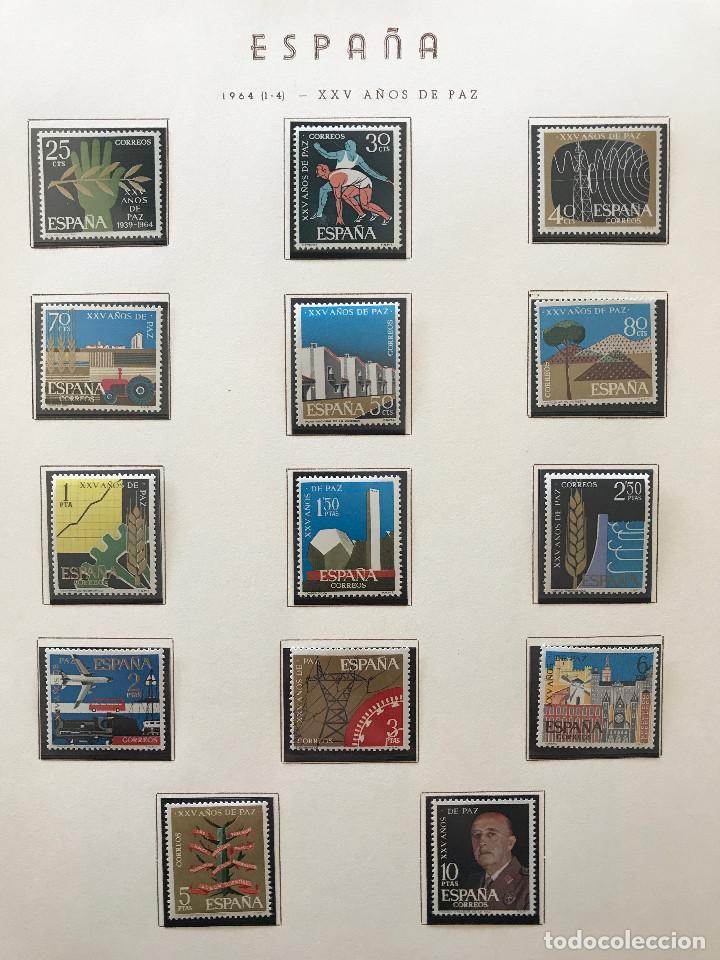 Sellos: Excepcional coleccion sellos España años 1960 a 1990 en Hojas Olegario y 4 Albums Philos - Foto 79 - 219321357