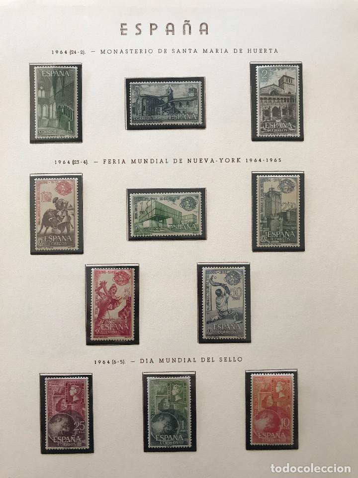 Sellos: Excepcional coleccion sellos España años 1960 a 1990 en Hojas Olegario y 4 Albums Philos - Foto 80 - 219321357