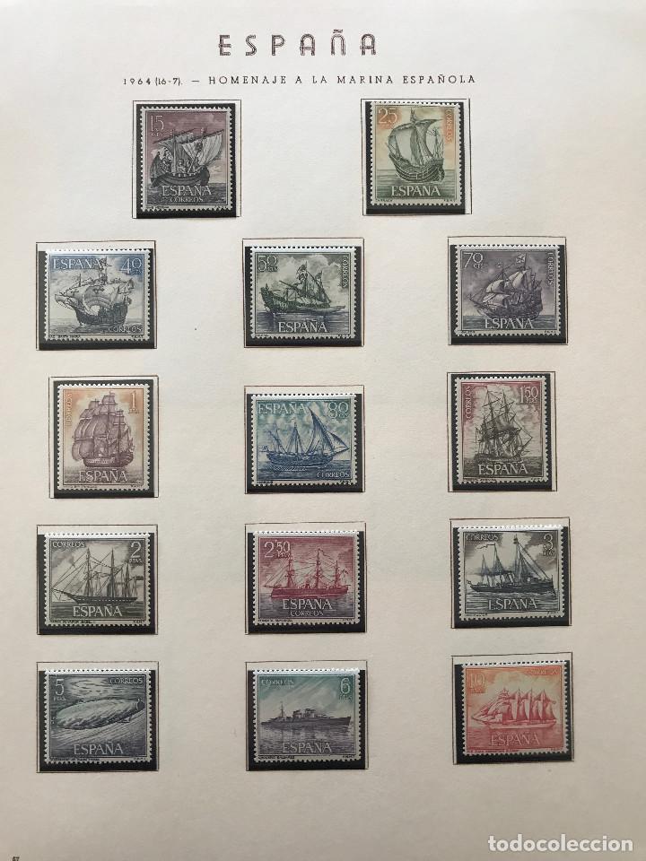 Sellos: Excepcional coleccion sellos España años 1960 a 1990 en Hojas Olegario y 4 Albums Philos - Foto 81 - 219321357
