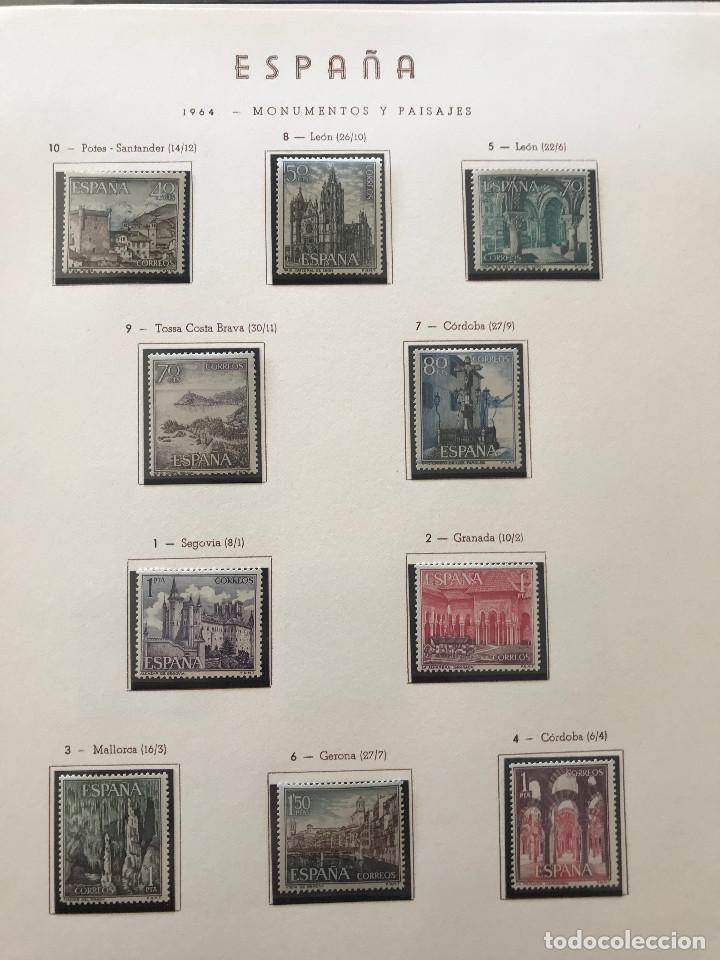 Sellos: Excepcional coleccion sellos España años 1960 a 1990 en Hojas Olegario y 4 Albums Philos - Foto 82 - 219321357