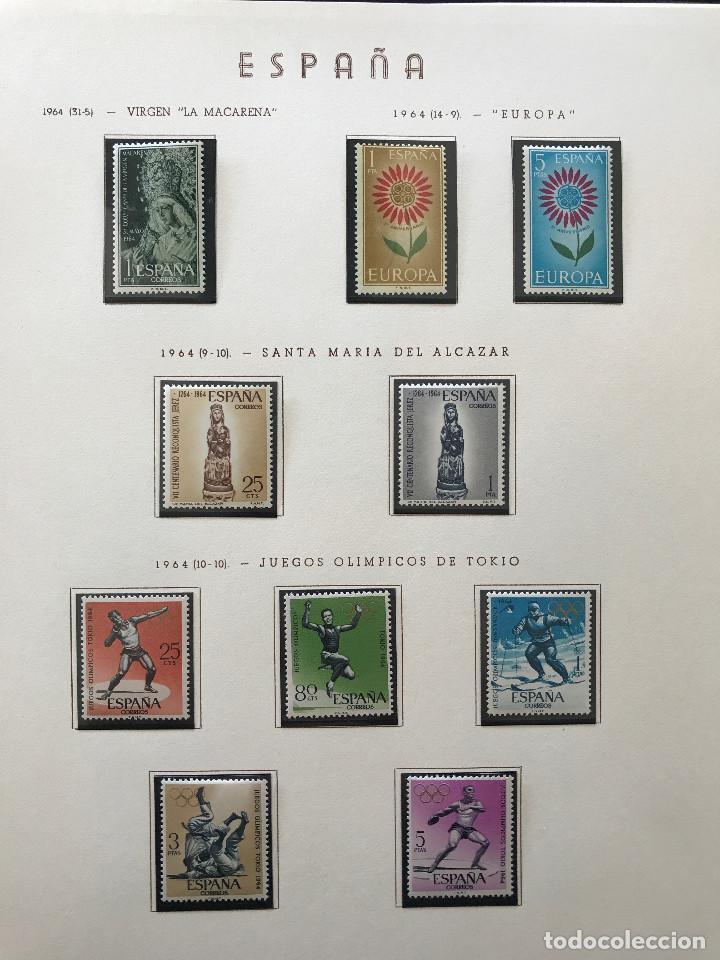 Sellos: Excepcional coleccion sellos España años 1960 a 1990 en Hojas Olegario y 4 Albums Philos - Foto 83 - 219321357