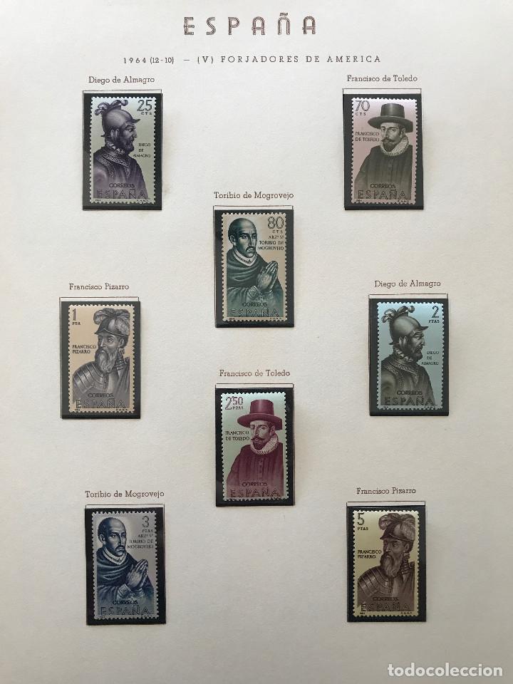 Sellos: Excepcional coleccion sellos España años 1960 a 1990 en Hojas Olegario y 4 Albums Philos - Foto 84 - 219321357