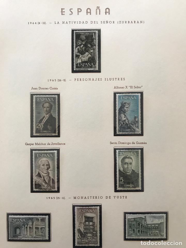 Sellos: Excepcional coleccion sellos España años 1960 a 1990 en Hojas Olegario y 4 Albums Philos - Foto 86 - 219321357