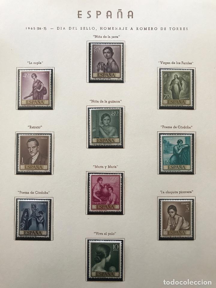 Sellos: Excepcional coleccion sellos España años 1960 a 1990 en Hojas Olegario y 4 Albums Philos - Foto 87 - 219321357