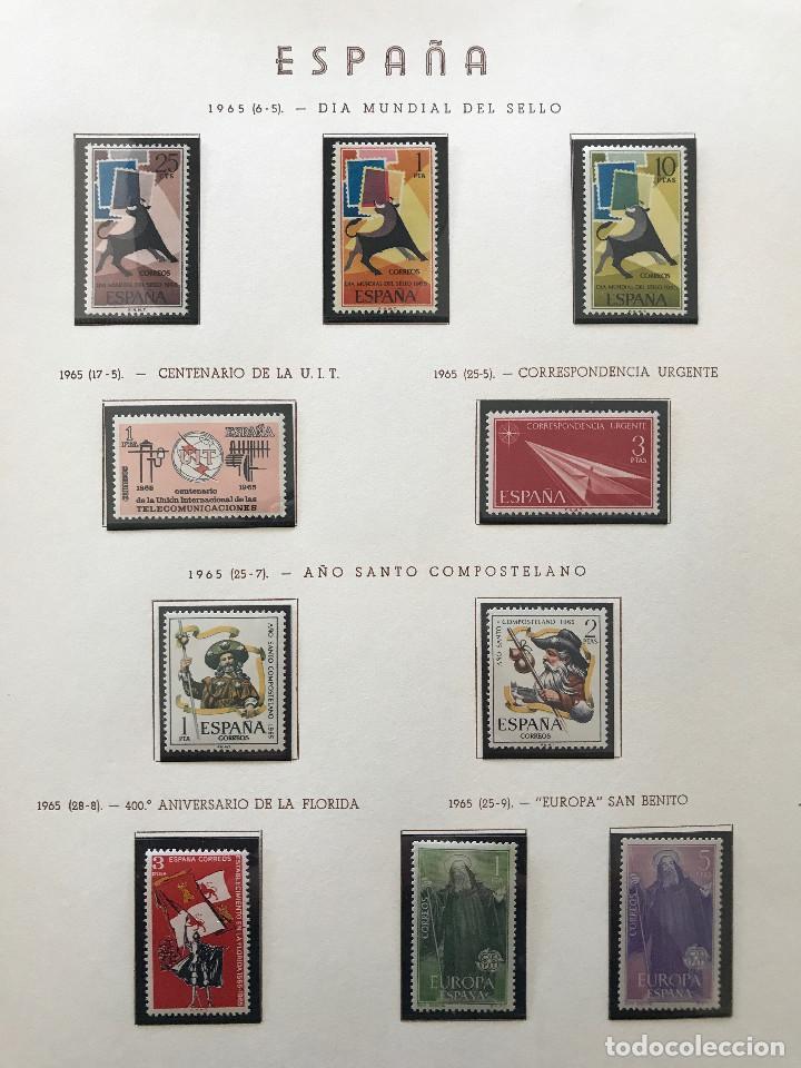Sellos: Excepcional coleccion sellos España años 1960 a 1990 en Hojas Olegario y 4 Albums Philos - Foto 88 - 219321357