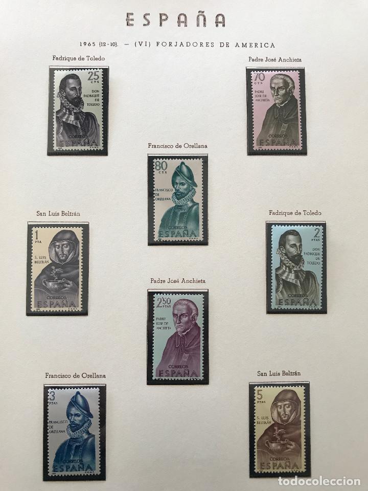 Sellos: Excepcional coleccion sellos España años 1960 a 1990 en Hojas Olegario y 4 Albums Philos - Foto 89 - 219321357