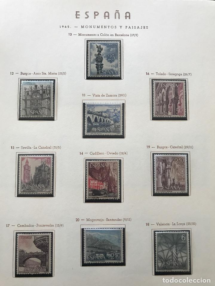 Sellos: Excepcional coleccion sellos España años 1960 a 1990 en Hojas Olegario y 4 Albums Philos - Foto 90 - 219321357