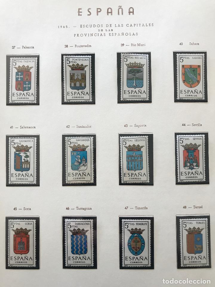Sellos: Excepcional coleccion sellos España años 1960 a 1990 en Hojas Olegario y 4 Albums Philos - Foto 91 - 219321357