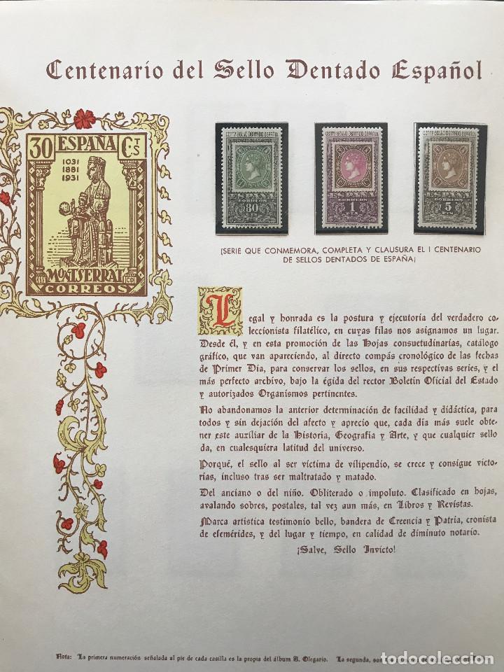 Sellos: Excepcional coleccion sellos España años 1960 a 1990 en Hojas Olegario y 4 Albums Philos - Foto 92 - 219321357