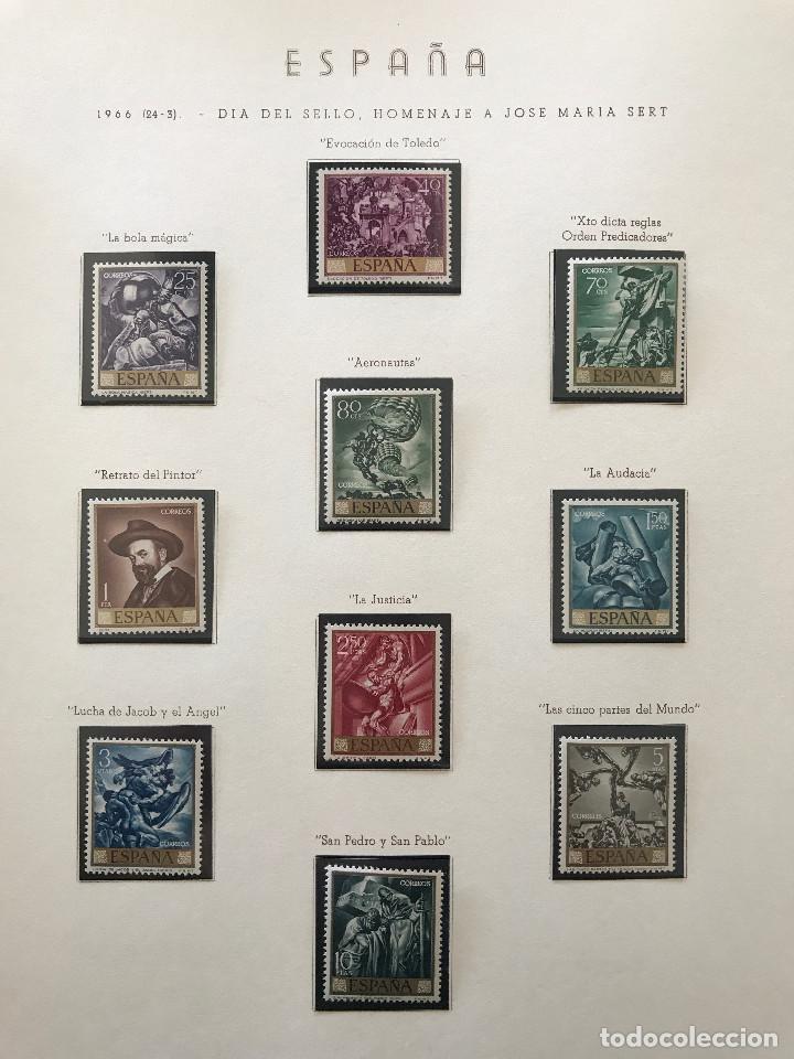Sellos: Excepcional coleccion sellos España años 1960 a 1990 en Hojas Olegario y 4 Albums Philos - Foto 94 - 219321357