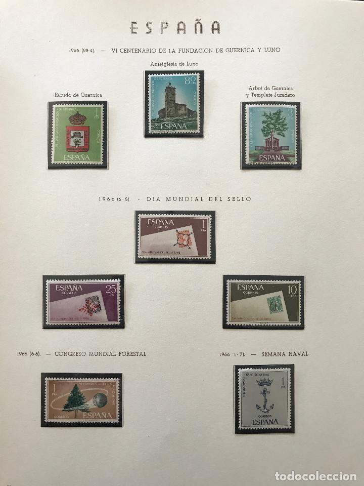 Sellos: Excepcional coleccion sellos España años 1960 a 1990 en Hojas Olegario y 4 Albums Philos - Foto 95 - 219321357