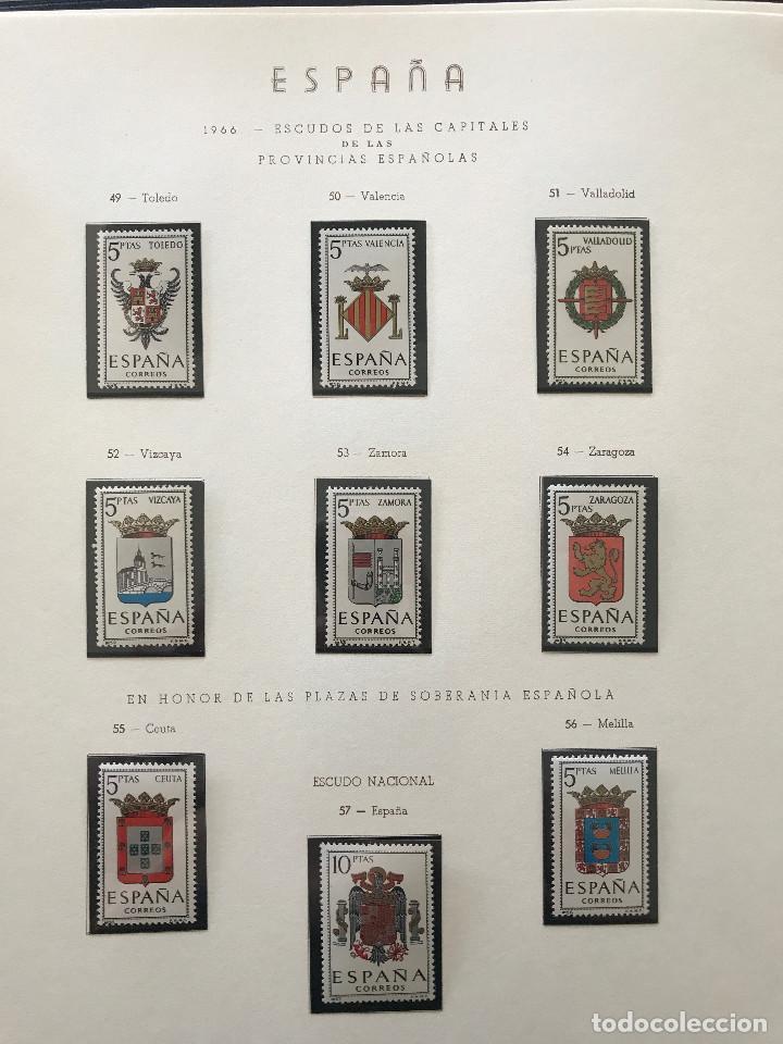 Sellos: Excepcional coleccion sellos España años 1960 a 1990 en Hojas Olegario y 4 Albums Philos - Foto 96 - 219321357