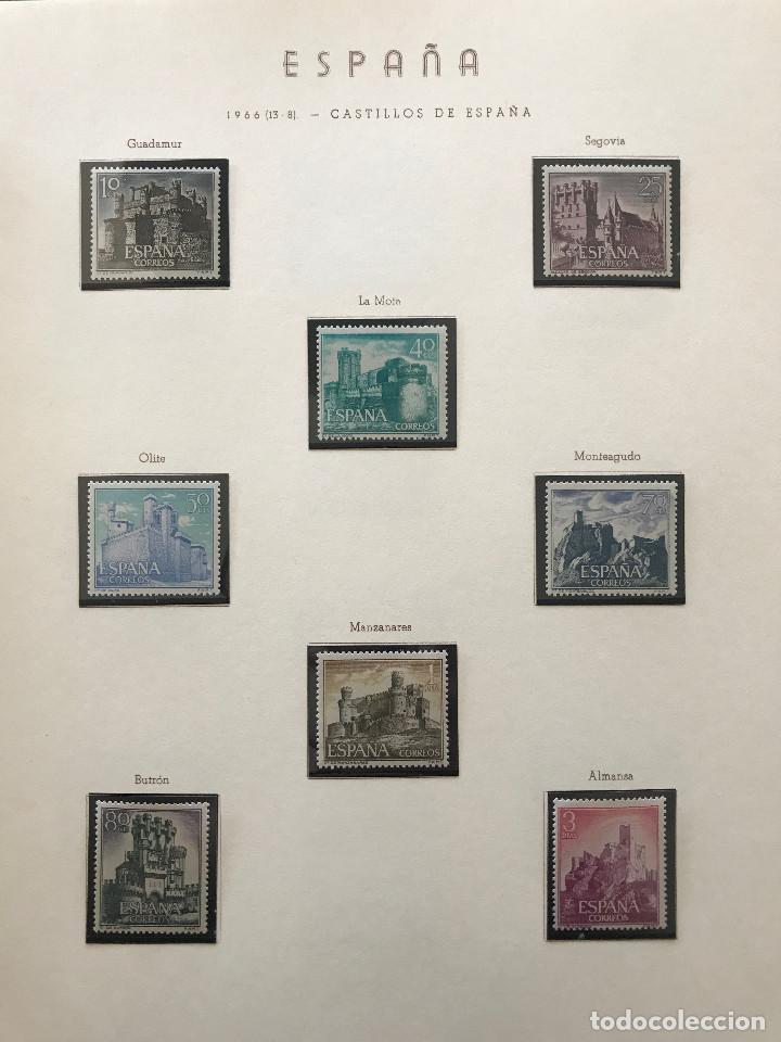 Sellos: Excepcional coleccion sellos España años 1960 a 1990 en Hojas Olegario y 4 Albums Philos - Foto 97 - 219321357