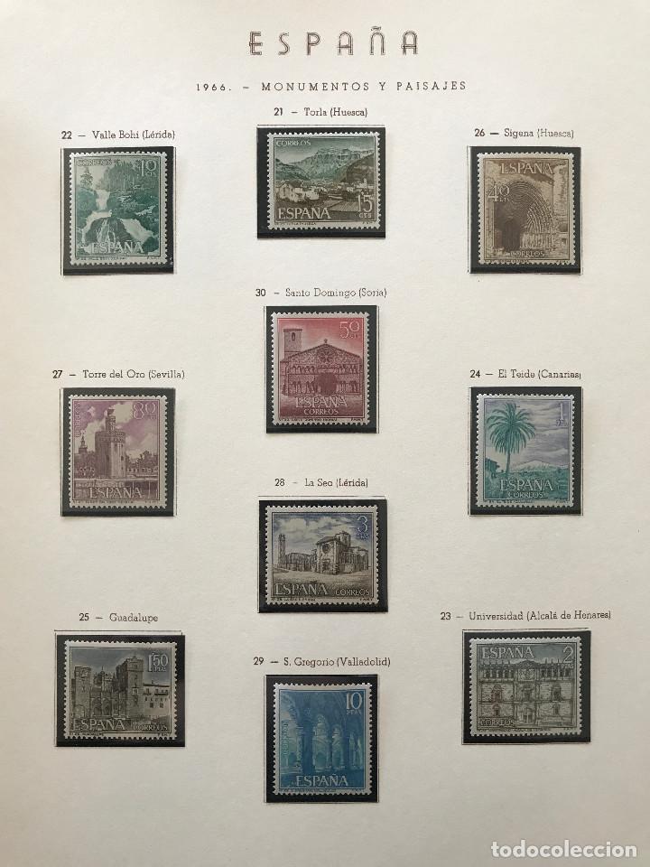 Sellos: Excepcional coleccion sellos España años 1960 a 1990 en Hojas Olegario y 4 Albums Philos - Foto 98 - 219321357