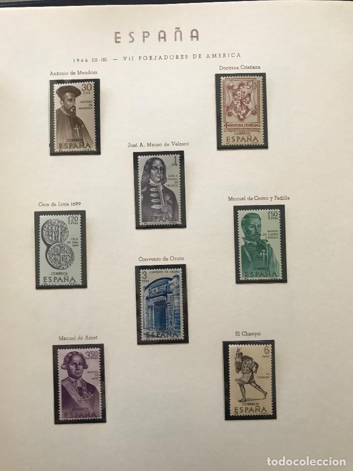 Sellos: Excepcional coleccion sellos España años 1960 a 1990 en Hojas Olegario y 4 Albums Philos - Foto 99 - 219321357