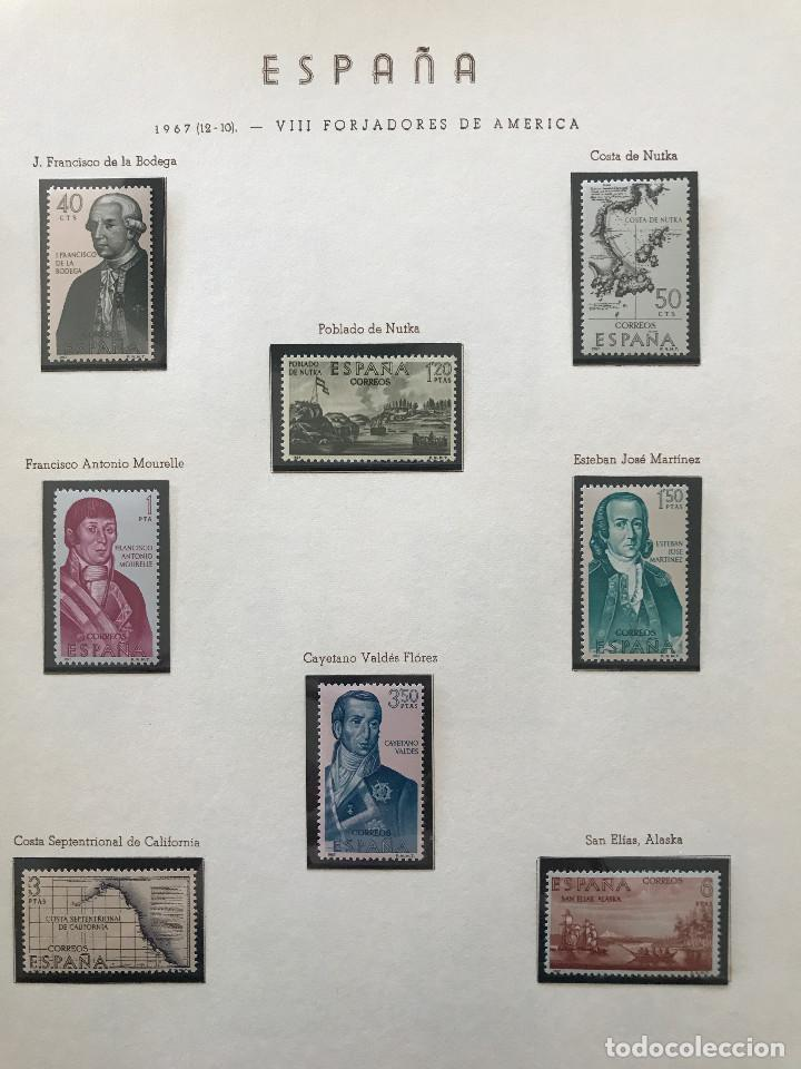 Sellos: Excepcional coleccion sellos España años 1960 a 1990 en Hojas Olegario y 4 Albums Philos - Foto 106 - 219321357