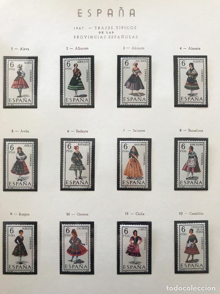 Sellos: Excepcional coleccion sellos España años 1960 a 1990 en Hojas Olegario y 4 Albums Philos - Foto 107 - 219321357