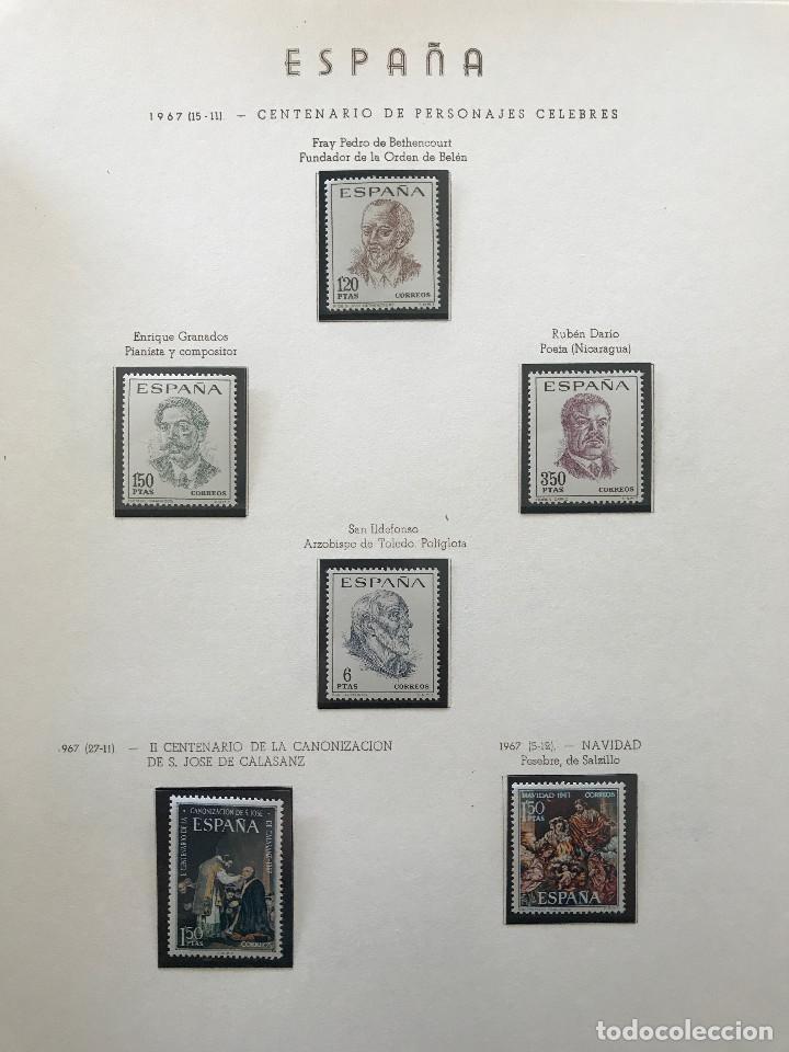 Sellos: Excepcional coleccion sellos España años 1960 a 1990 en Hojas Olegario y 4 Albums Philos - Foto 109 - 219321357
