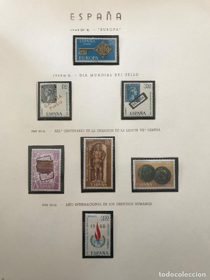 Sellos: Excepcional coleccion sellos España años 1960 a 1990 en Hojas Olegario y 4 Albums Philos - Foto 112 - 219321357