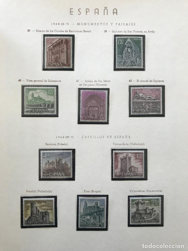 Sellos: Excepcional coleccion sellos España años 1960 a 1990 en Hojas Olegario y 4 Albums Philos - Foto 113 - 219321357
