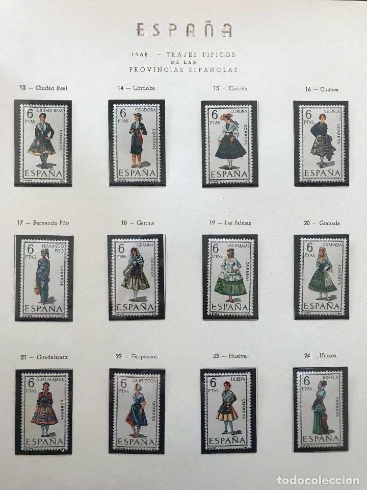 Sellos: Excepcional coleccion sellos España años 1960 a 1990 en Hojas Olegario y 4 Albums Philos - Foto 114 - 219321357