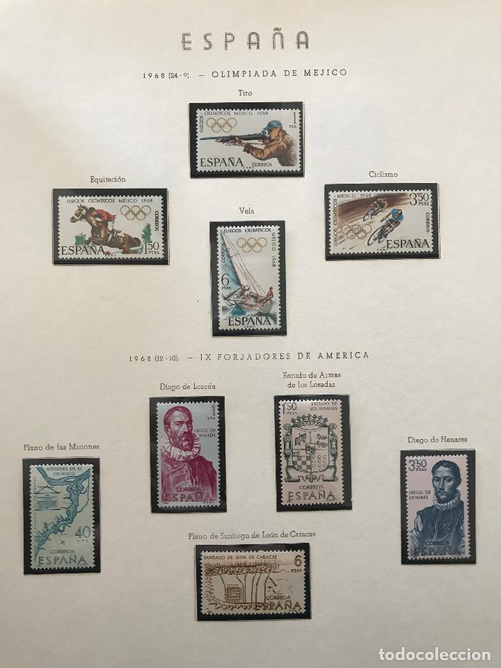 Sellos: Excepcional coleccion sellos España años 1960 a 1990 en Hojas Olegario y 4 Albums Philos - Foto 115 - 219321357