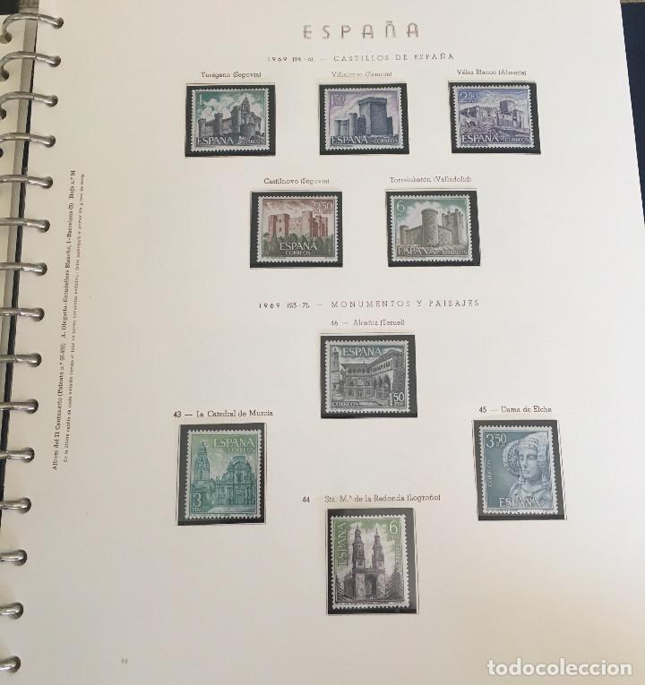 Sellos: Excepcional coleccion sellos España años 1960 a 1990 en Hojas Olegario y 4 Albums Philos - Foto 119 - 219321357