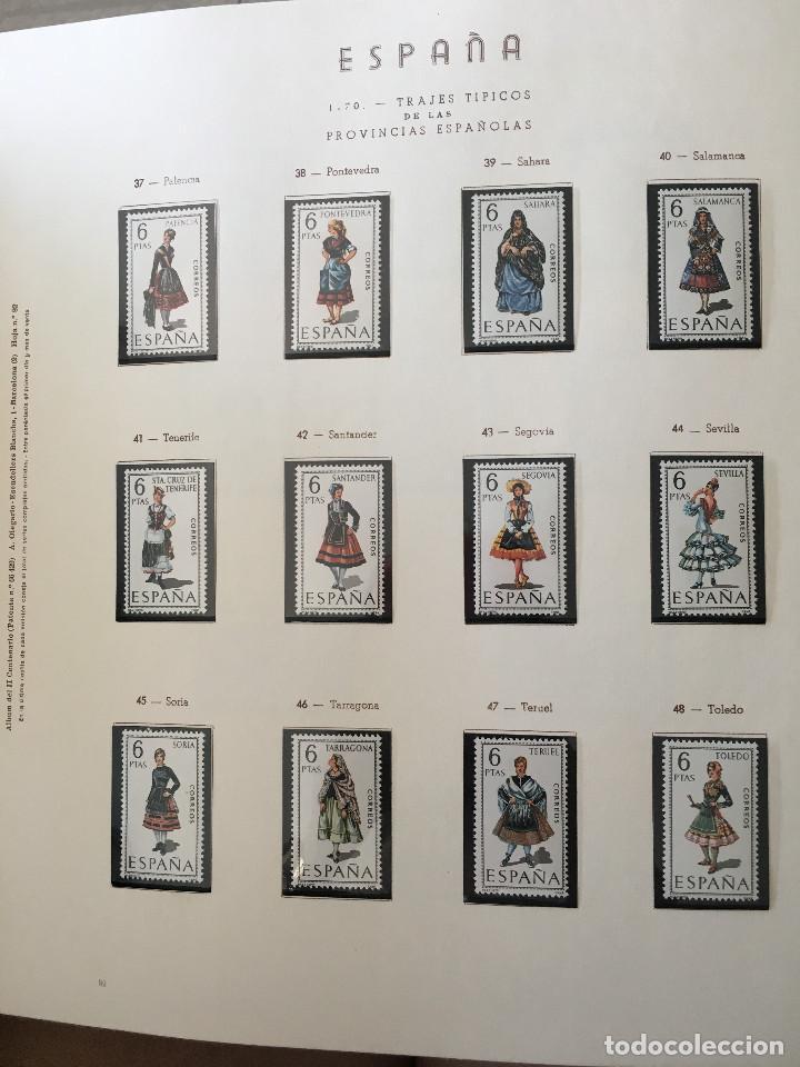 Sellos: Excepcional coleccion sellos España años 1960 a 1990 en Hojas Olegario y 4 Albums Philos - Foto 124 - 219321357
