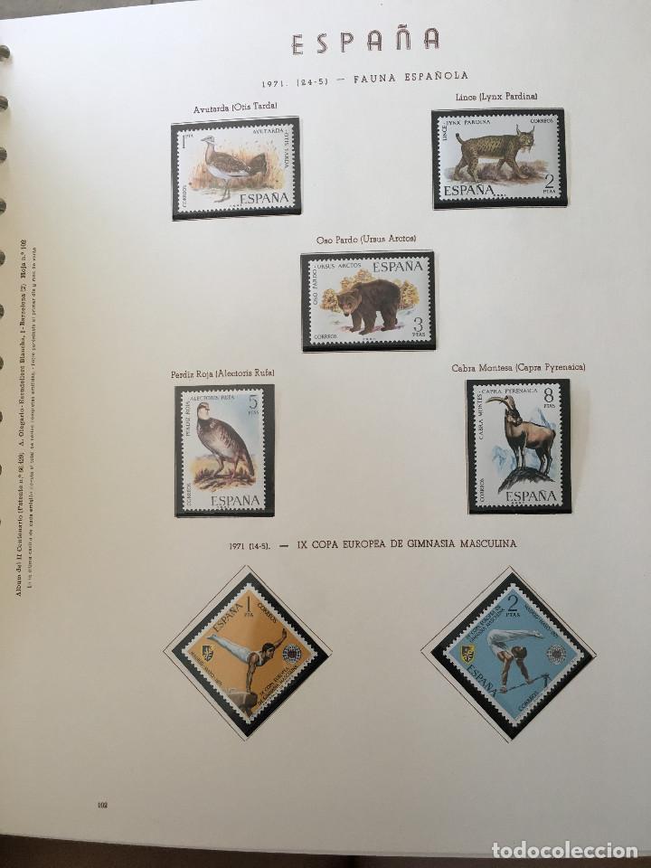 Sellos: Excepcional coleccion sellos España años 1960 a 1990 en Hojas Olegario y 4 Albums Philos - Foto 134 - 219321357