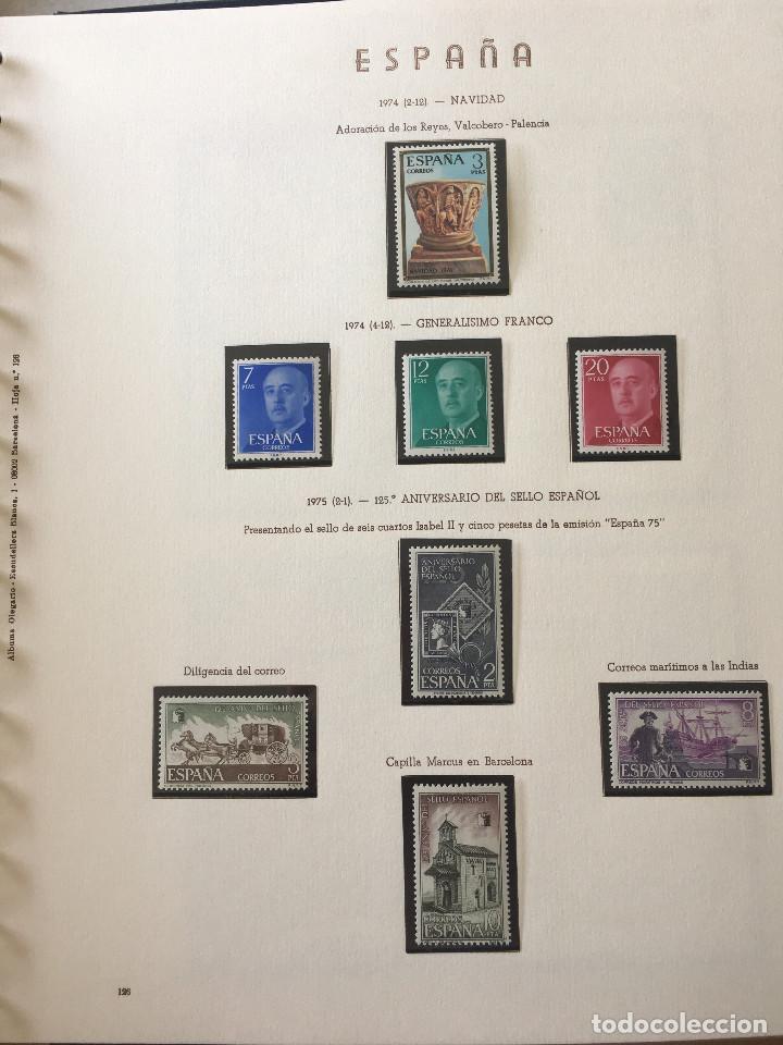 Sellos: Excepcional coleccion sellos España años 1960 a 1990 en Hojas Olegario y 4 Albums Philos - Foto 158 - 219321357