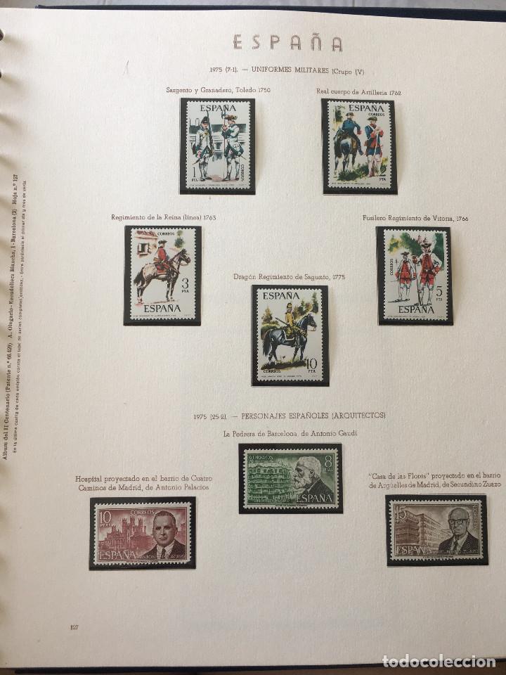 Sellos: Excepcional coleccion sellos España años 1960 a 1990 en Hojas Olegario y 4 Albums Philos - Foto 159 - 219321357