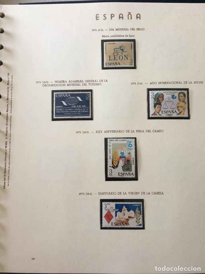 Sellos: Excepcional coleccion sellos España años 1960 a 1990 en Hojas Olegario y 4 Albums Philos - Foto 162 - 219321357