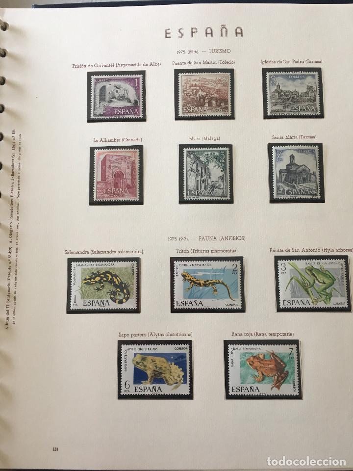 Sellos: Excepcional coleccion sellos España años 1960 a 1990 en Hojas Olegario y 4 Albums Philos - Foto 163 - 219321357