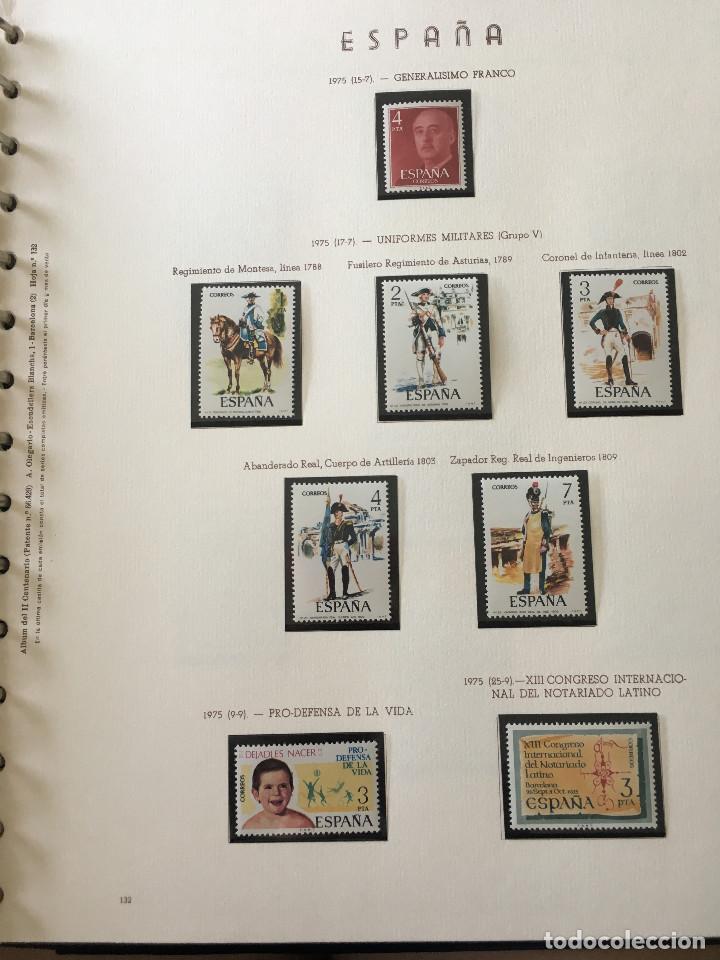 Sellos: Excepcional coleccion sellos España años 1960 a 1990 en Hojas Olegario y 4 Albums Philos - Foto 164 - 219321357