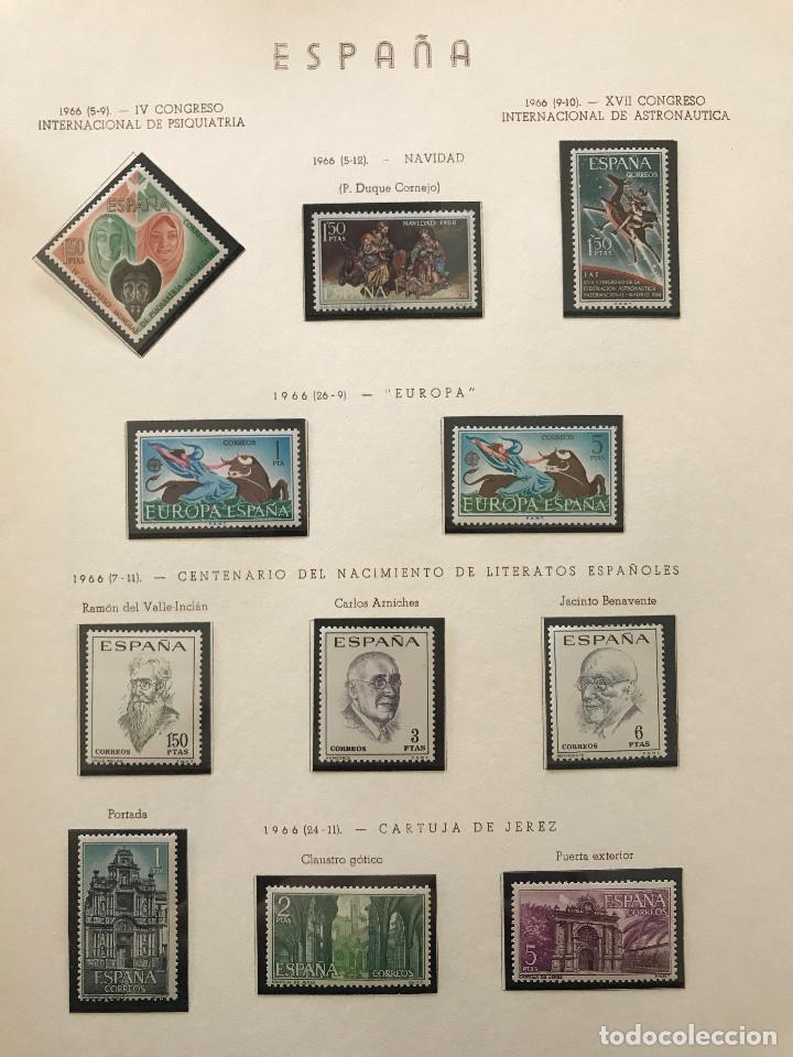 Sellos: Excepcional coleccion sellos España años 1960 a 1990 en Hojas Olegario y 4 Albums Philos - Foto 173 - 219321357