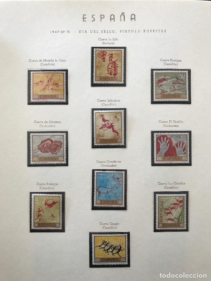 Sellos: Excepcional coleccion sellos España años 1960 a 1990 en Hojas Olegario y 4 Albums Philos - Foto 174 - 219321357