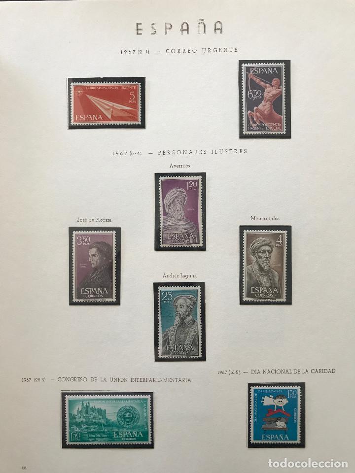 Sellos: Excepcional coleccion sellos España años 1960 a 1990 en Hojas Olegario y 4 Albums Philos - Foto 175 - 219321357