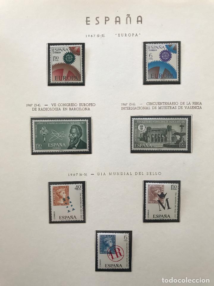 Sellos: Excepcional coleccion sellos España años 1960 a 1990 en Hojas Olegario y 4 Albums Philos - Foto 176 - 219321357