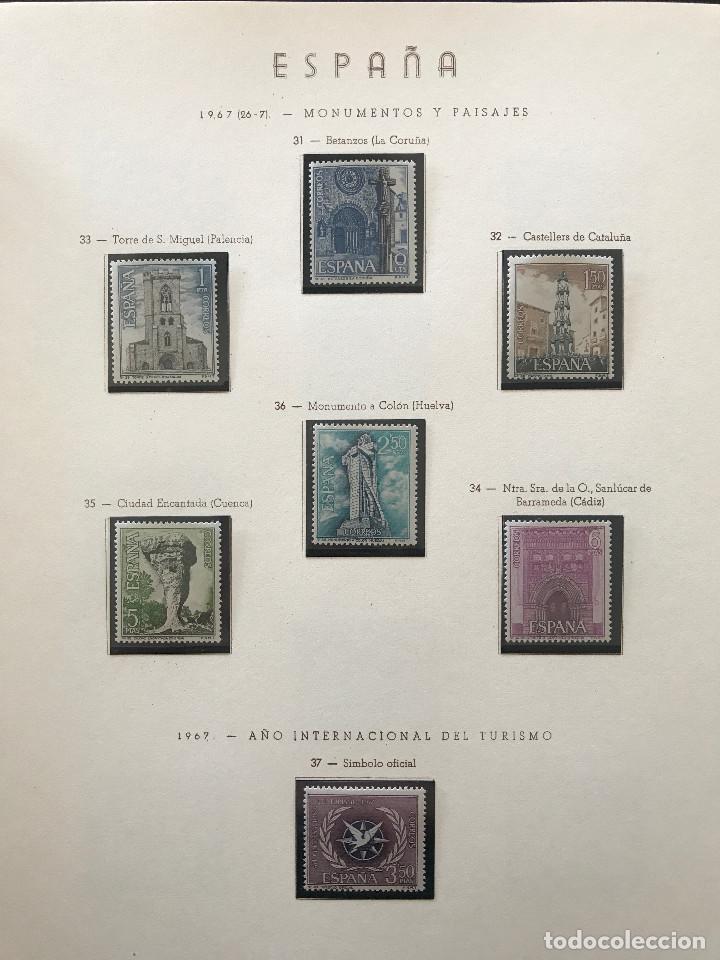 Sellos: Excepcional coleccion sellos España años 1960 a 1990 en Hojas Olegario y 4 Albums Philos - Foto 177 - 219321357