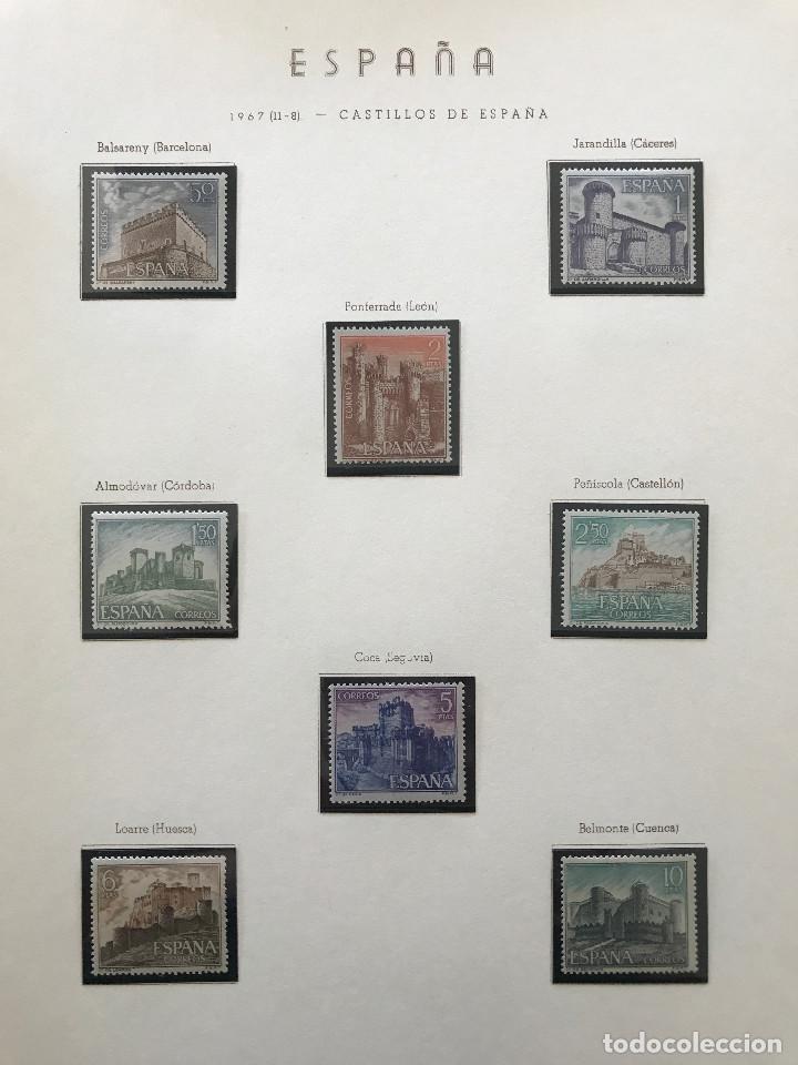 Sellos: Excepcional coleccion sellos España años 1960 a 1990 en Hojas Olegario y 4 Albums Philos - Foto 178 - 219321357