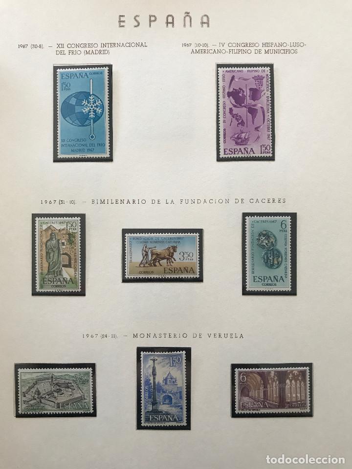 Sellos: Excepcional coleccion sellos España años 1960 a 1990 en Hojas Olegario y 4 Albums Philos - Foto 181 - 219321357