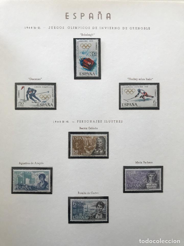 Sellos: Excepcional coleccion sellos España años 1960 a 1990 en Hojas Olegario y 4 Albums Philos - Foto 183 - 219321357