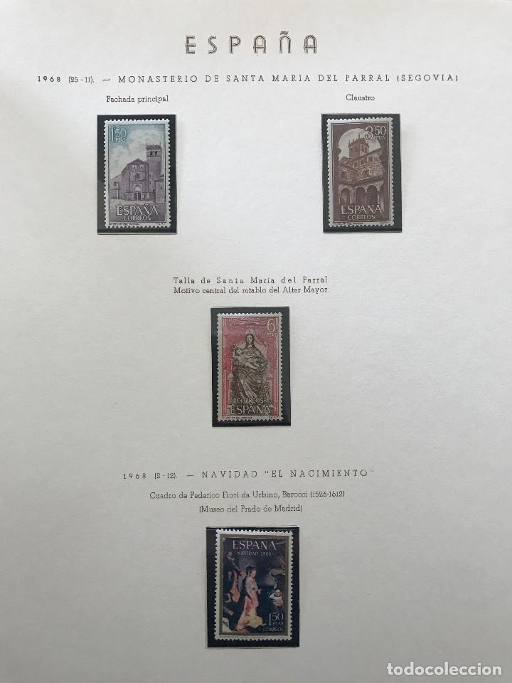 Sellos: Excepcional coleccion sellos España años 1960 a 1990 en Hojas Olegario y 4 Albums Philos - Foto 189 - 219321357