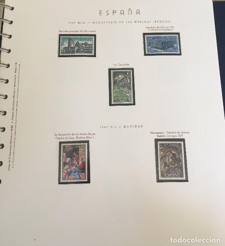 Sellos: Excepcional coleccion sellos España años 1960 a 1990 en Hojas Olegario y 4 Albums Philos - Foto 190 - 219321357