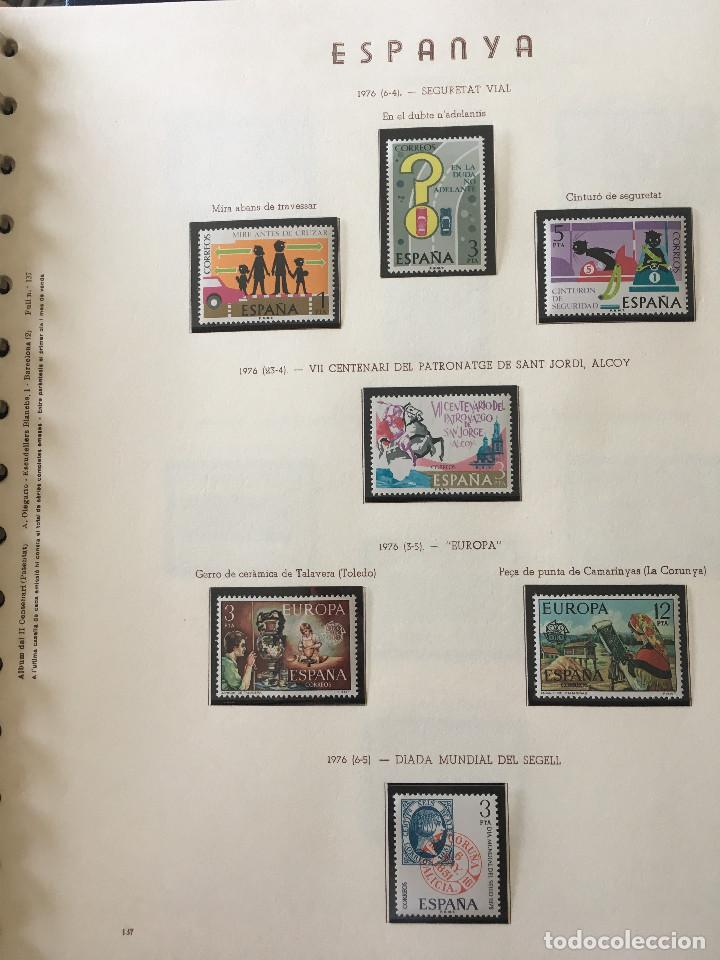 Sellos: Excepcional coleccion sellos España años 1960 a 1990 en Hojas Olegario y 4 Albums Philos - Foto 196 - 219321357
