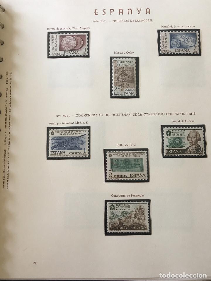 Sellos: Excepcional coleccion sellos España años 1960 a 1990 en Hojas Olegario y 4 Albums Philos - Foto 197 - 219321357